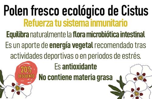 Comprar polen de abeja fresco ecologico